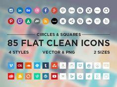 Flat Minimalistic Social Icons