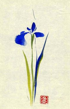 Items similar to Sweet Pea Flower Watercolor Painting - ORIGINAL Watercolor Floral Art - Artwork - Art Gifts for Her - Art Gift Basket - Opt Mat Choices on Etsy Japanese Painting, Japanese Art, Chinese Painting Flowers, Watercolor Flowers, Watercolor Paintings, Tattoo Watercolor, Watercolour, Iris Tattoo, Sumi E Painting