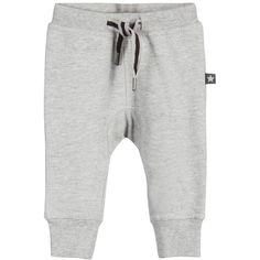Molo Baby Boys Grey Marl 'Stan' Trousers ($26) ❤ liked on Polyvore featuring baby, baby clothes and baby boy