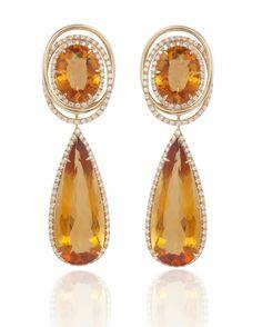 Pumkin colour earrings  @margheritaburgener
