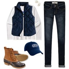 I feel like my TN self may need this outfit... Bean Boot Prep by smorrisonn on Polyvore