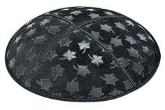 Leaves Blind Embossed Kippah. This design is also available in Foil Embossing