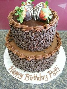 Two Tier Chocolate Indulgence Cake