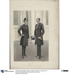 Herren in Gehrock, 1920