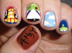Amazing nail art. I LOVE toy story