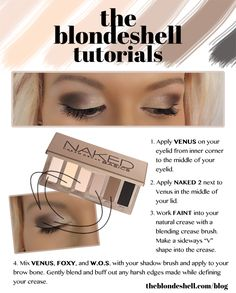 Urban Decay Naked Basics Everyday Eye Makeup Tutorial from The Blondeshell