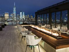 RoofTop at Exchange Place & Terrace Bar . RoofTop at Exchange Place & Terrace Bar . Rooftop Design, Terrace Design, Rooftop Restaurant, Rooftop Terrace, Jersey City, Fireplace Stores, Diy Pergola, Pergola Shade, Pergola Plans