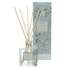 Pervaded with sweet floral tones and a musky base, this white tea and sandalwood reed diffuser from the luxury designers at Dorma will freshen up any room. Paper Packaging, Packaging Design, Candle Diffuser, Incense, Body Care, Perfume, Skin Care, Floral, Royal Doulton