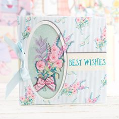 Best Wishes card design from the April Rose Collection. Shop now at C&C: http://www.createandcraft.tv/pp/serif-april-rose-collection-cd-rom-349944?p=1 #cardmaking #papercraft