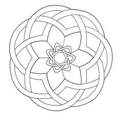 Celtic art design looking like a simple Mandala from Paul K collection