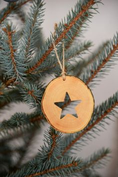 Wooden Christmas Ornaments, Christmas Decorations, Holiday Decor, Star Silhouette, Handmade Wooden, Handmade Gifts, Natural Christmas, Wood Slices, Handmade Decorations