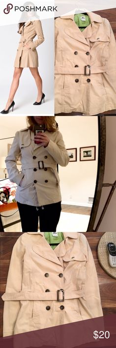 🎄Holiday Sale🎄 Lacoste Tan Peacoat Beautiful Lacoste Tan Peacoat!✨Best fits S or M✨ Great length✨ Great for layering and also multi-seasonal use✨ Slight discoloration around shoulder on back, not very noticeable (in last picture)✨ Lacoste Jackets & Coats Pea Coats