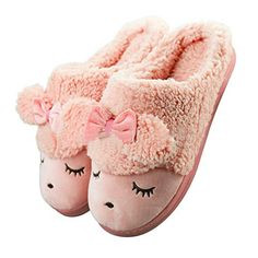 Summer Mae Womens Warm Plush Leopard Slippers with Ribbon Bowknot