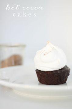 Hot Cocoa Cakes ♥