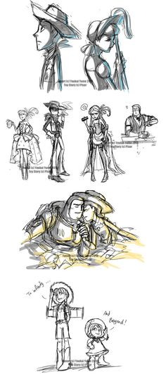 Toy Story Livestream Sketches4 by YoukaiYume on deviantART