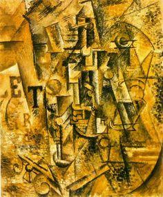 La bouteille de rhum 1911. Pablo Picasso (1881-1973)