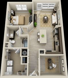 Sims House Plans, House Plans One Story, Story House, Small House Plans, House Floor Plans, Layouts Casa, House Layouts, Small House Layout, Apartment Layout