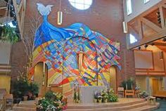 """In keeping with the """"Living Water"""" theme, we could name the youth area """"The Fountain"""" and have a mural similar to this..."""