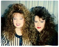 Totally 80's and totally used to be my hair!