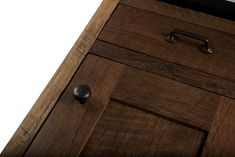 Bradford, Square Inset, Reclaimed Hearty Hewn Oak, Natural Tung Oil, Door Hardware: LE-10-OB, Drawer Hardware: LE-12-OB