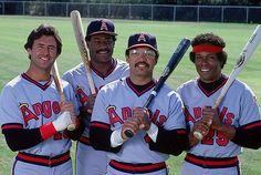 Fred Lynn, Don Baylor, Reggie Jackson and Rod Carew