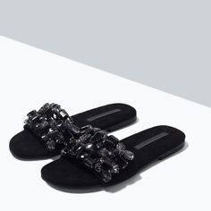 ZARA - JEWEL SLIP-ON SANDALS $79.00 (CAD)