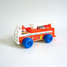 Fisher Price Fire Engine 1968 / Excellent by AttysSproutVintage, $18.00