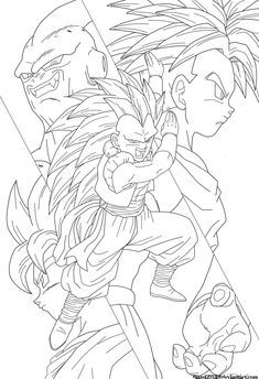 It's up to you now Gotenks Well take this one off my to-do list. It was just one of those days today where I just said let me get this one out of the wa. It's up to you now Gotenks Goku Drawing, Ball Drawing, Line Drawing, Goten E Trunks, Goku Pics, Dragon Sketch, Anime Tattoos, Dragon Ball Gt, Anime Sketch