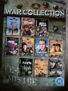 MGM War Collection DVD (2005) Tom Berenger, Aldrich (DIR) cert 15 10 discs Tom Berenger, Dvds For Sale, Toms, Dvd Collection, War Dogs, Baseball Cards, Ebay