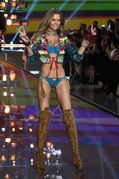Josephine Skriver from Denmark walks the runway during the 2015 Victoria's Secret Fashion Show