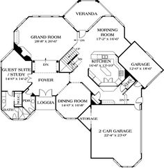 Traditional Plan: 7,017 Square Feet, 5 Bedrooms, 5.5 Bathrooms - 3323-00549 House Plans And More, Luxury House Plans, Dream House Plans, House Floor Plans, The Plan, How To Plan, Plan Plan, Indoor Balcony, I Love House