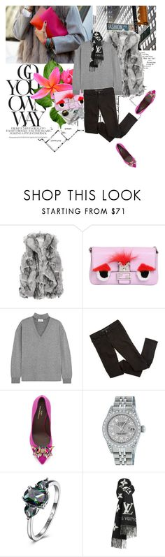 """Go your own way"" by youwishhhh ❤ liked on Polyvore featuring Fendi, Allude, Bruno Magli, Rolex and Louis Vuitton"