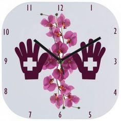 Zegar ścienny z nadrukiem logo, Twoim foto