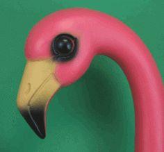 Plastic Pink Flamingos -- love it!