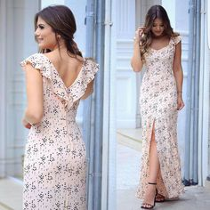 Vestido vestido dresses, fashion dresses e fashion outfits Frock Design, Cute Dresses, Casual Dresses, Summer Dresses, Dress Outfits, Fashion Dresses, Vestido Casual, Frack, Western Dresses