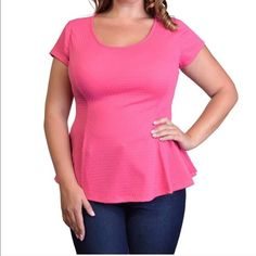 NWT PEPLUM TOP(SOLD OUT) 95% polyester 5% spandex Tops