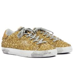 GOLDEN GOOSE DELUXE BRAND SUPERSTAR SNEAKERS COVERED IN 3D-EFFECT CRYSTALS