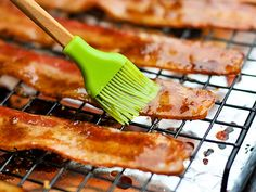 Pig Candy  1/2 cup dark brown sugar  1/8 teaspoon cayenne pepper  1 lb thick cut bacon  1/4 cup maple syrup