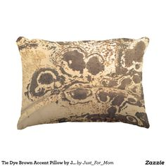 Tie Dye Brown Accent Pillow by Janz