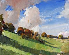 valley shadows ~ oil on canvas ~ by oliver akers douglas