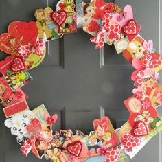 9 Ideen, Tutorials und Werbegeschenke zum Valentinstag, The Effective Pictures We Offer You About DIY Valentines Day wreath A quality picture can t Diy Valentines Day Wreath, Valentines Day Decorations, Valentines Day Party, Valentine Day Crafts, Love Valentines, Valentine Ideas, Easter Crafts, Valentine Tree, Valentine Images