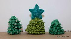 gehäkelte Tannenbäumchen - Anleitung auf www.weanerantn.at #Weihnachten #Tanne #Baum #Perlen #häkeln Crochet Earrings, Bead Crochet, Tree Structure, Handarbeit, Weihnachten, Tutorials