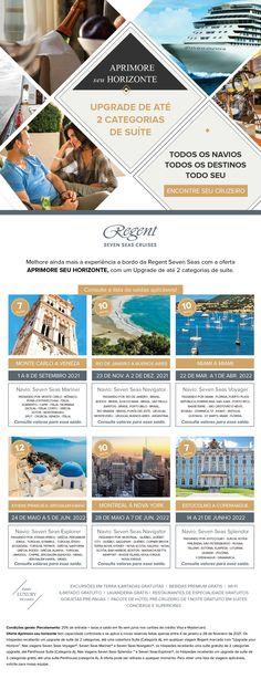 Melhore ainda mais a sua experiência a bordo no Regent Seven Seas Map, Luxury Cruises, Viajes, Destinations, Location Map, Maps