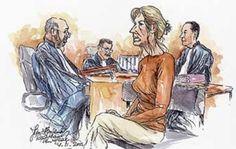 een tekening van de rechtspraak van Lucia de Berk