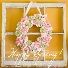 How to make a Spring wreath? ClassiclyAmber shows you how using old shirts and cereal boxes. See how easy this is!