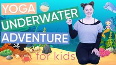 Yoga For Kids, Kid Yoga, 5 Minute Yoga, Childrens Yoga, Yoga Courses, Safari Adventure, Yoga Routine, Best Youtubers, Under The Sea