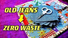 Quilting Projects, Sewing Projects, Baby Sewing, Sew Baby, Old Jeans, Baby Boots, Free Baby Stuff, Zero Waste, Hand Embroidery