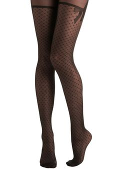Tights to Behold. You fell in love with these pretty patterned tights the second you laid eyes on them. #black #modcloth
