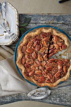 We love the combination of pecans and smoky-sweet bourbon in the thick, rich pie filling. For a booze-free pie, substitute apple juice for the whiskey in the filling, and serve with plain sweetened whipped cream or enjoy it without.    Recipe:Tennessee Whiskey-Pecan Pie
