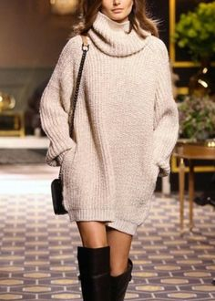 $26.50   Fashion High-necked sweater dress  1154777
